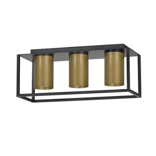 CEILING LAMP TIPER 3 BLACK / GOLD