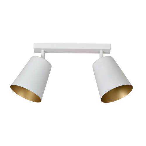 PRISM 2 white / gold ceiling lamp