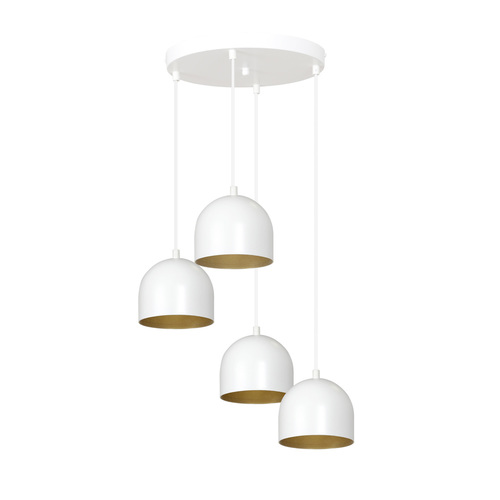 HANGING LAMP AERO 4 WHITE / GOLD