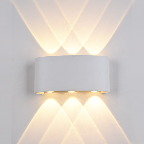 White Gilberto LED Outdoor Wall Lamp