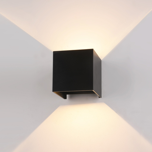 Black Sorento LED outdoor wall lamp
