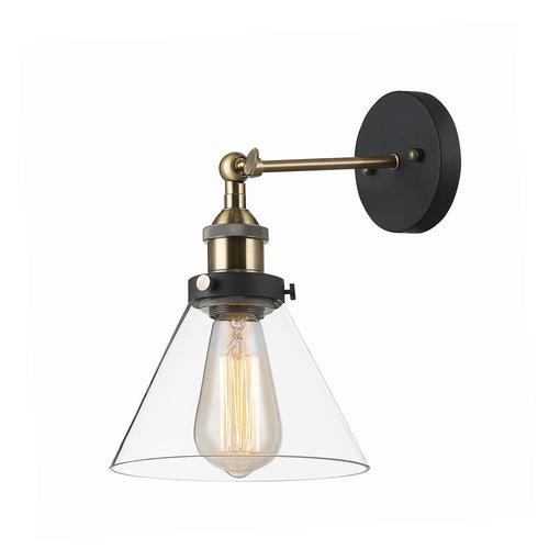 Getan E27 black wall lamp