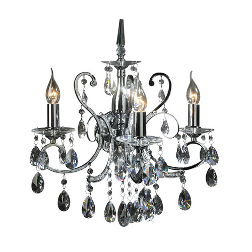 Classic Wall lamp with Barocco Chrome E14 3-point crystals