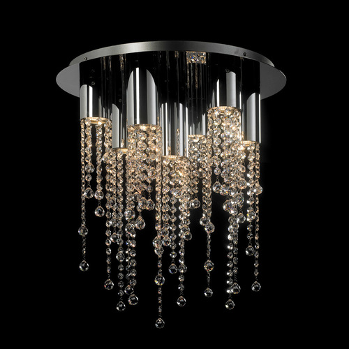Classic 7-point Larix GU10 Crystals Ceiling Lamp