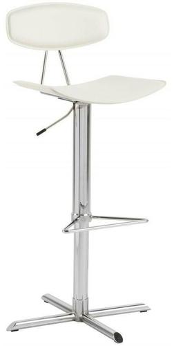 ACTONA stool BLAISE white - eco-leather, chrome