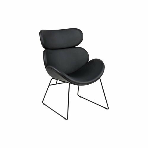 ACTONA chair CAZAR black - eco-leather, metal