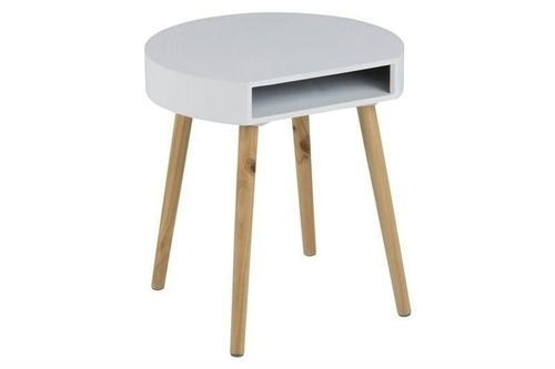 ACTONA coffee table ELA white - legs made of pine wood