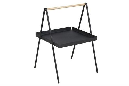 ACTONA coffee table SLOP black - metal, wood