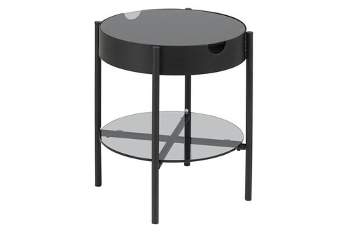 ACTONA glass table TIPTON black - glass, metal