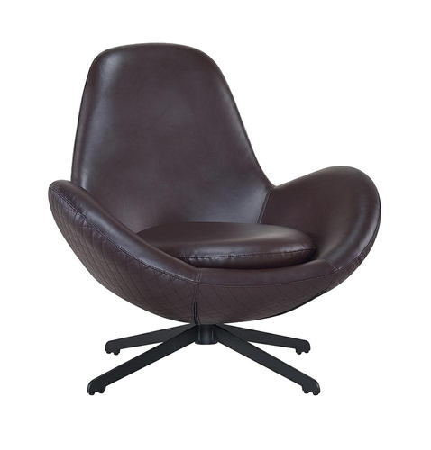 ALEX brown armchair - eco-leather, metal