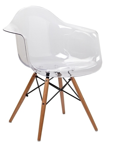 ICE WOOD transparent armchair - polycarbonate, beech base