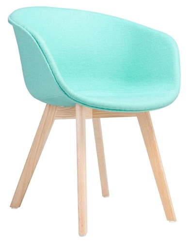 STAY SOFT mint armchair - fabric, beech base