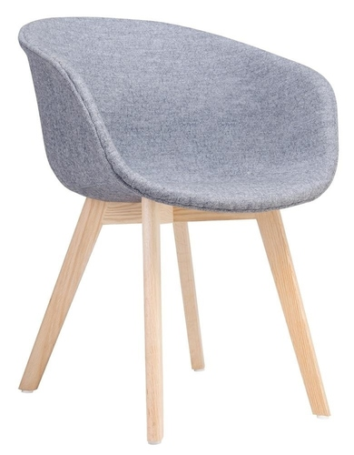 STAY SOFT gray armchair - fabric, beech base
