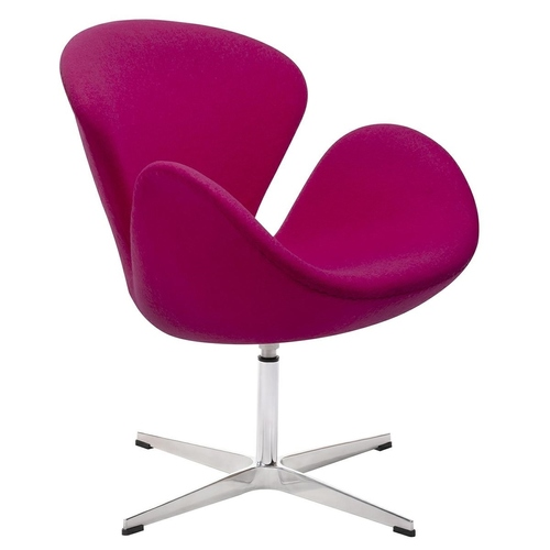 Swan WOOL PREMIUM amaranth armchair - wool, steel base