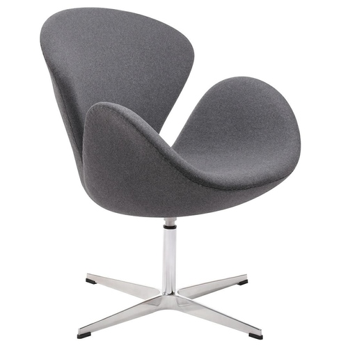 SWAN WOOL PREMIUM gray armchair - wool, steel base
