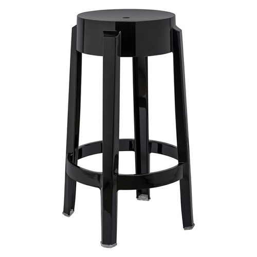 Bar stool CHARLES 65 black - polycarbonate