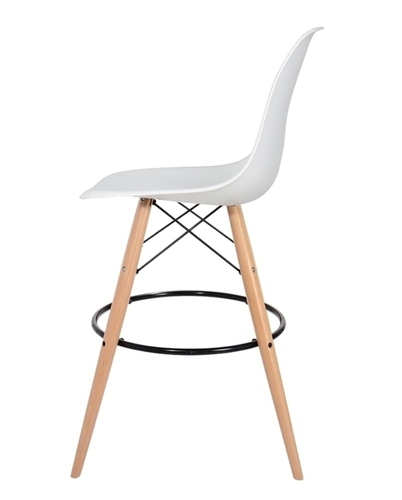 Stool DSW WOOD pure white.01 - beech wooden base