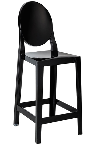 VICTORIA black stool - polycarbonate