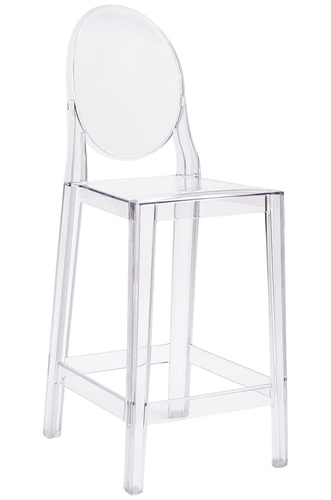 VICTORIA stool transparent - polycarbonate