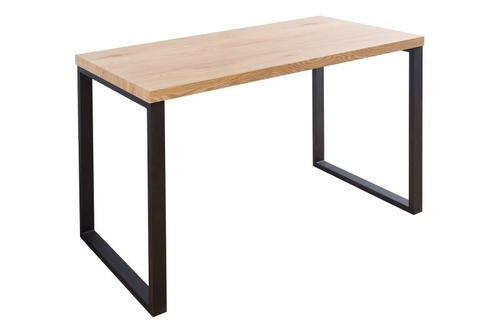 INVICTA desk OAK 128, oak - veneered MDF, metal legs