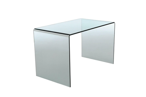 INVICTA glass desk FANTOME transparent - glass 20 mm.