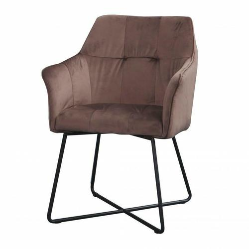 INVICTA armchair LOFT brown - velvet, metal
