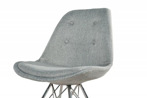 INVICTA Gray upholstered HUGO chair