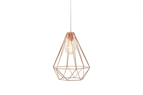 INVICTA Hanging lamp GEOMETRIC - copper