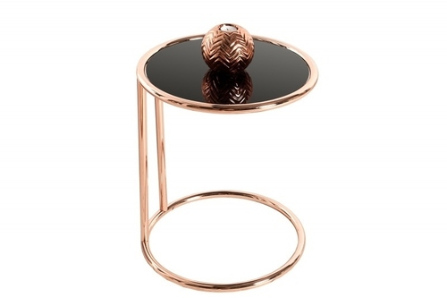INVICTA table BRILANT copper - metal, glass