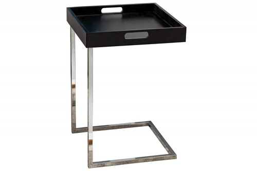 INVICTA CIANO table black - removable top, chrome