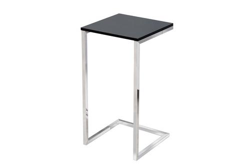 INVICTA table SIMPLY black - chrome base
