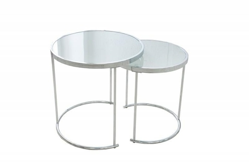 INVICTA table set ART DECO chrome - glass, metal