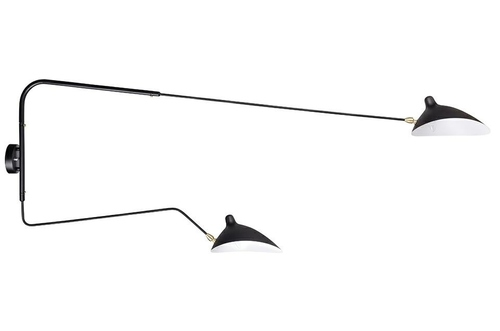 Wall lamp RAVEN WALL UP 2 black - aluminum, carbon steel