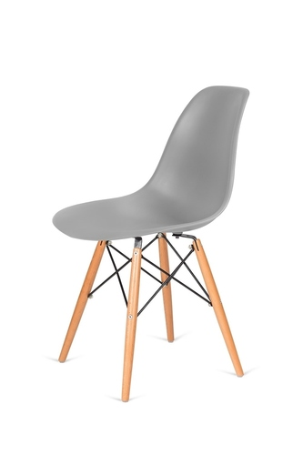 DSW WOOD gray 30 chair - beech wooden base