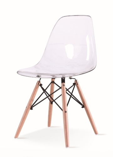 ICE WOOD transparent chair - polycarbonate, beech base