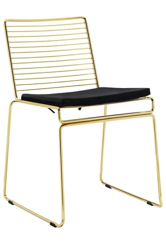 ROD SOFT GOLD gold chair - velor cushion, metal