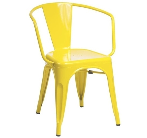 TOWER ARM yellow chair - metal