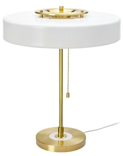 ARTE table lamp white and gold - aluminum, glass
