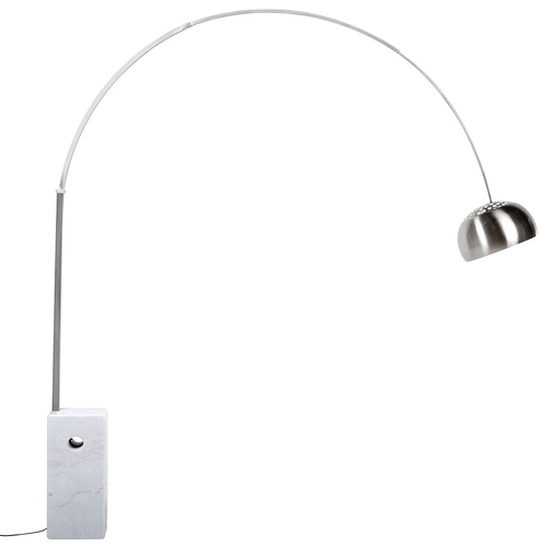 MARMO floor lamp white - stainless steel, marble