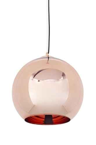 Hanging lamp BOLLA 35 copper - metallized glass