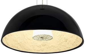 Hanging lamp ELEGANTE 90 black small 1