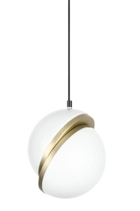 Pendant lamp GLOBE 20 gold - LED, acrylic, metal small 1