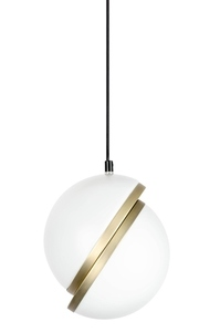 Pendant lamp GLOBE 20 gold - LED, acrylic, metal small 2