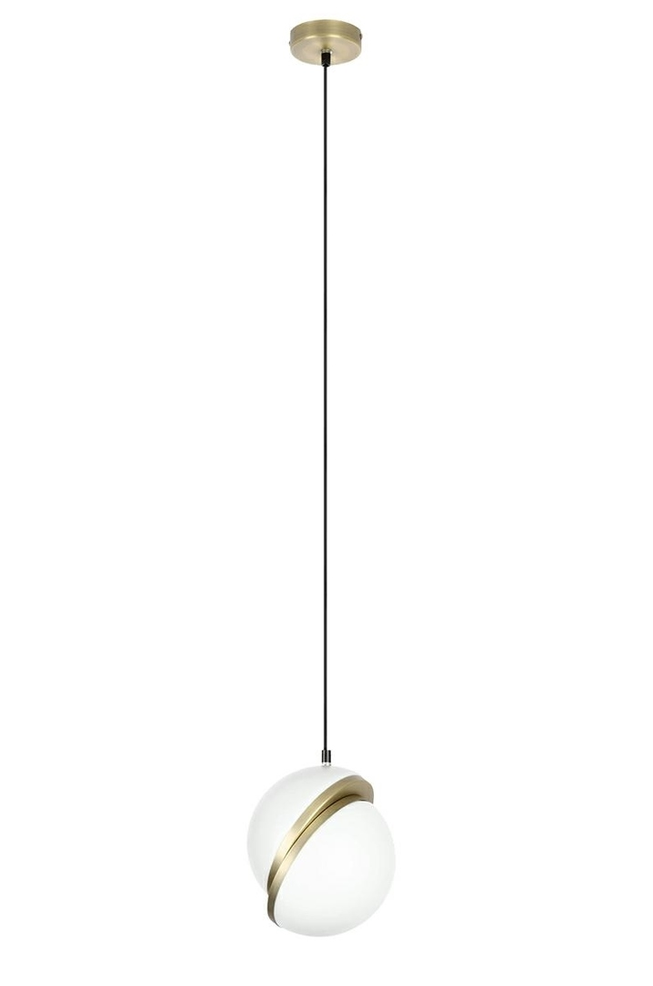 Pendant lamp GLOBE 20 gold - LED, acrylic, metal