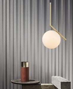Hanging lamp HALM 30 - brass, glass small 11