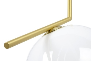 Hanging lamp HALM 30 - brass, glass small 3