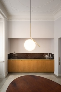 Hanging lamp HALM 30 - brass, glass small 9