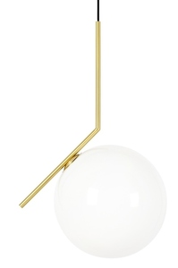 Hanging lamp HALM 30 - brass, glass small 0