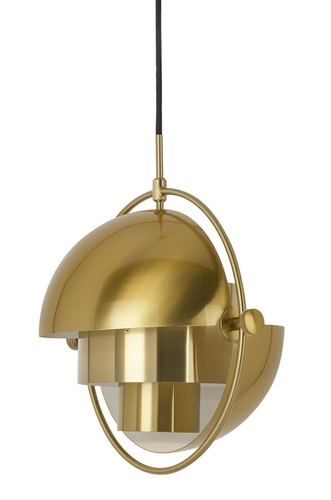 Pendant lamp VARIA gold - carbon steel