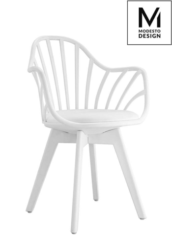 MODESTO armchair ALBERT ARM white - polypropylene, eco-leather